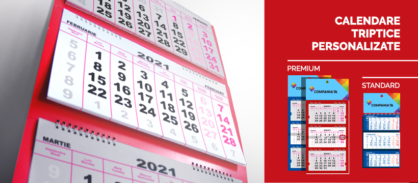 Calendare triptice personalizate