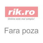 Caiet My Book Flex A4 2x40f 80gr dictando+patratele, roz deschis transparent cu logo alb