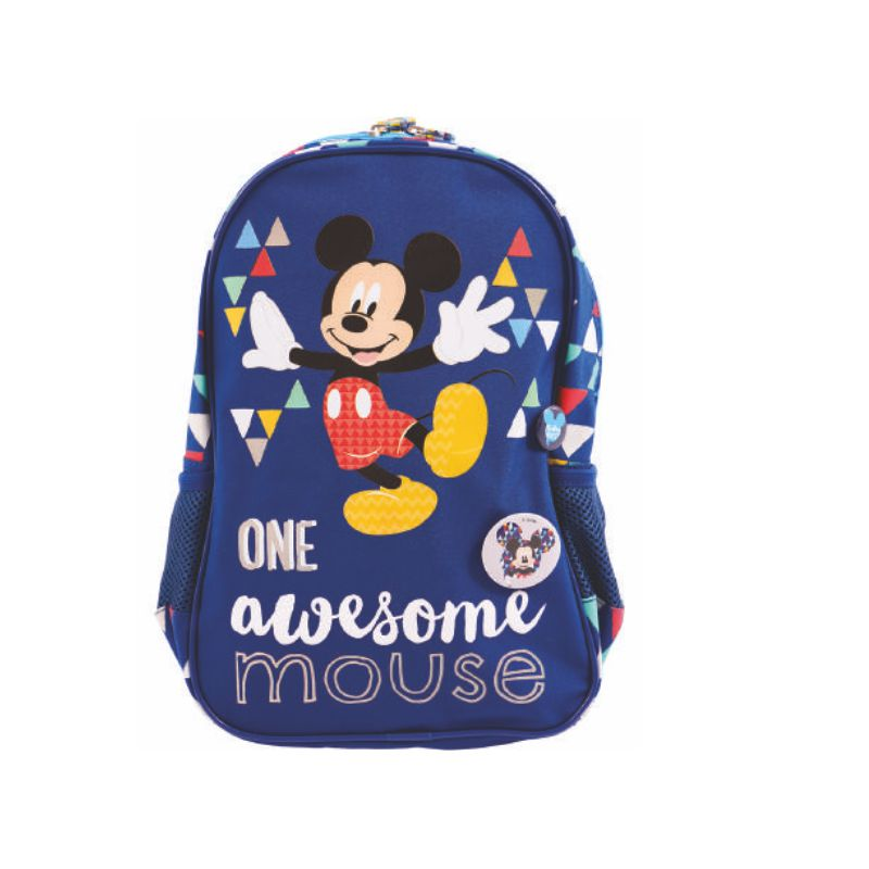 Ghiozdan Gradinita, Albastru Tringhiuri, Awesome Mickey Mouse