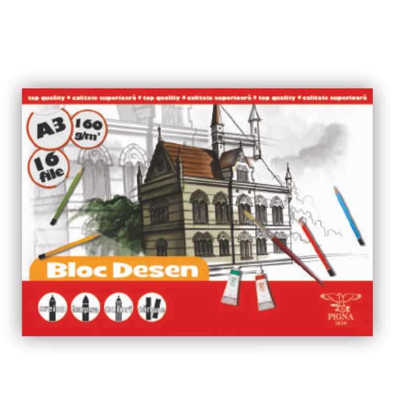 Bloc De Desen A3  16 File  160g/mp
