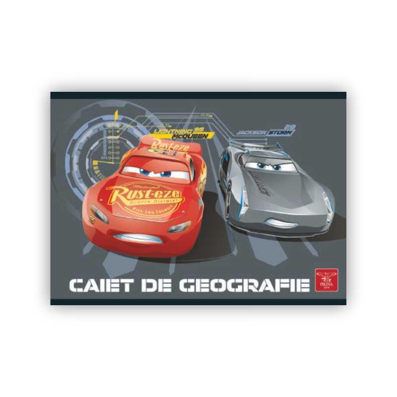 Caiet Pentru Geografie  24 File  Cars 3