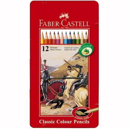Creioane Color 12 Culori Cutie Metal  Faber-castell