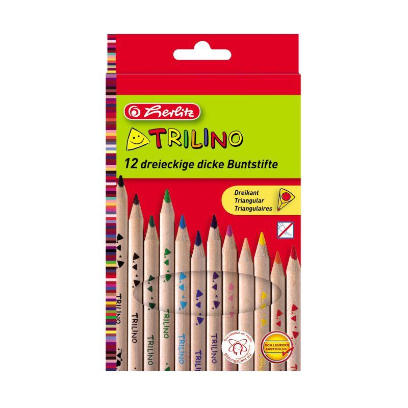 Creioane Color 12 Culori Trilino Herlitz