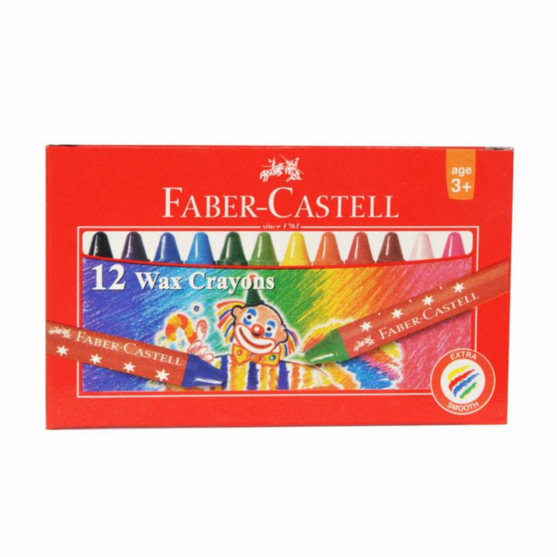 Creioane Color Cerate  12 Culori Rotunde  Faber-castell