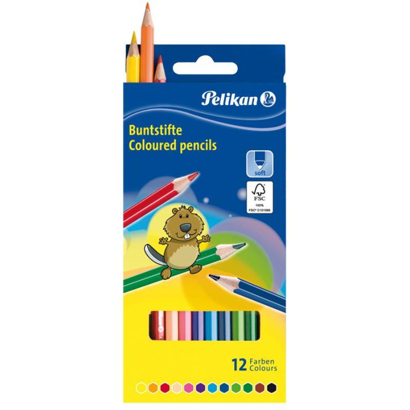 Creioane Color 12 Culori Pelikan