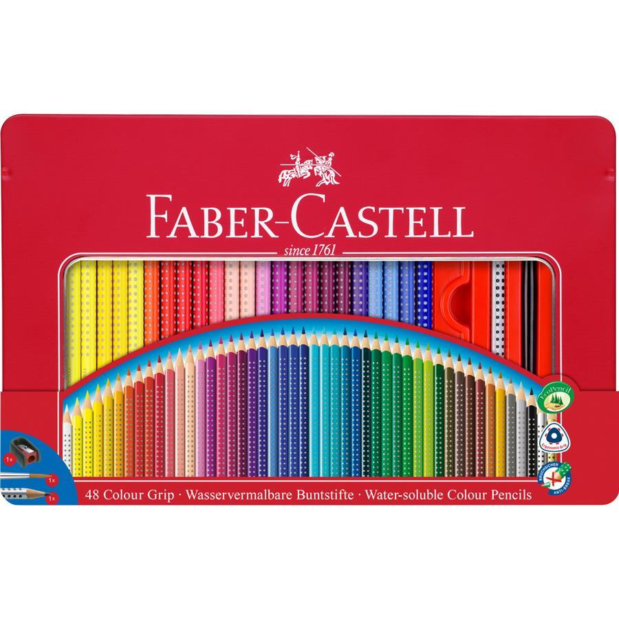 Creioane Color 48 Culori Cutie Metal  Faber-castell