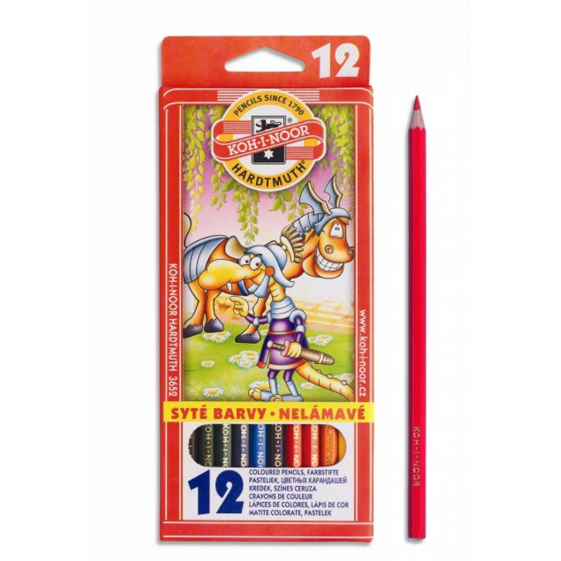 Creioane Color 12 Culori Monstrii Spatiali Koh-i-noor