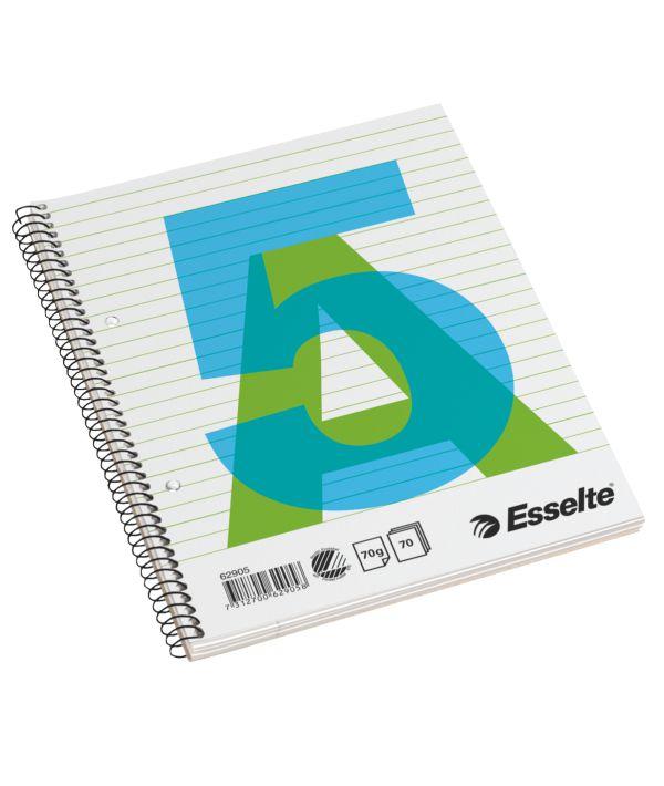 Caiet Cu Spira A5  70 File  Liniatura Dict/matem  Coperta Carton  Esselte
