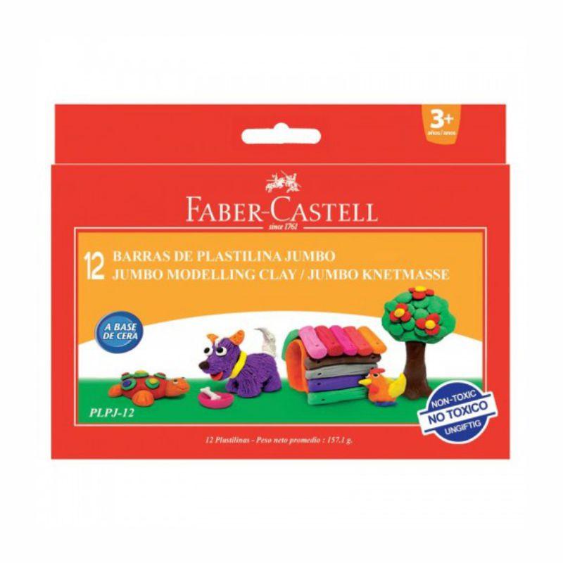 Plastilina  12 Culori/set  160g  Faber-castell