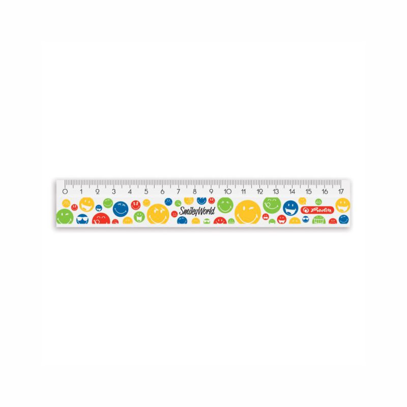 Rigla 17 Cm  Smiley World Herlitz