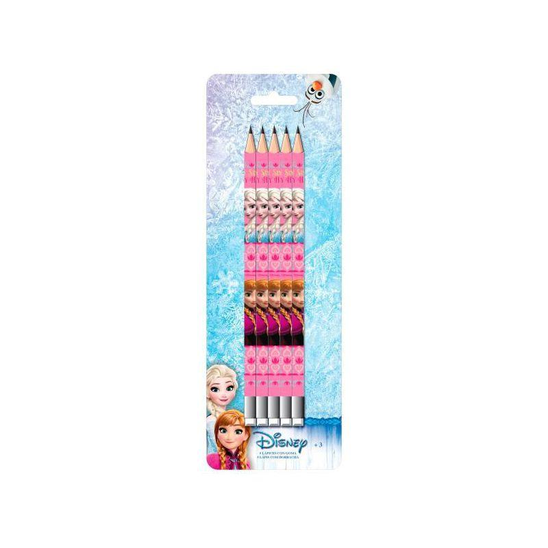 Set 5 Creioane  Cu Guma  Frozen