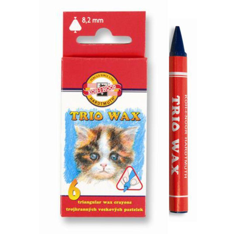 Creioane Color Cerate  6 Culori Trio Wax Koh-i-noor