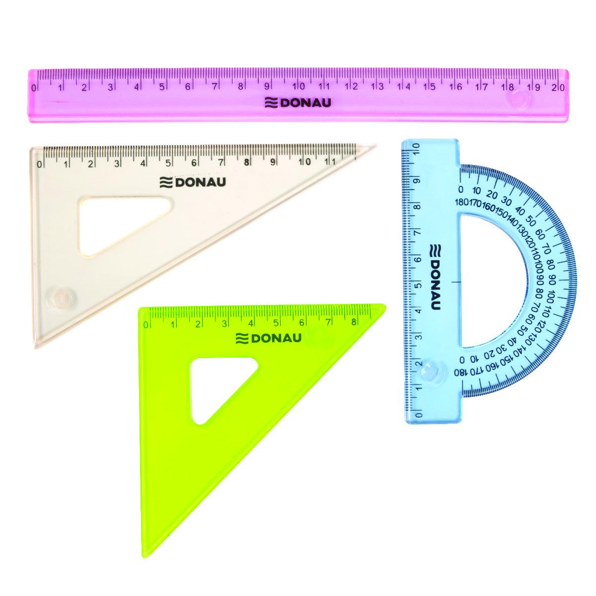 Trusa Geometrie  4 Piese  Donau Transparent